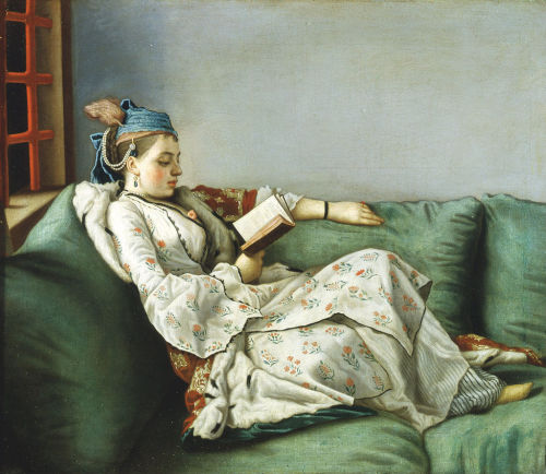 Jean-Étienne Liotard (1702-1789), Marie Adelaide of France in Turkish Dress, 1753. Öl auf Leinwand, 50 × 56 cm, Galleria degli Uffizi, Florenz (via Wikimedia Commons).